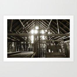'BARN INTERIOR - MEMORIES' Art Print