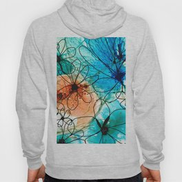 Modern Floral Art - Wild Flowers 2 - Sharon Cummings Hoody