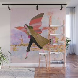 Butterfly girl Wall Mural