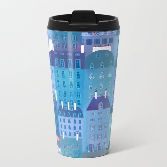 Paris Blues Metal Travel Mug