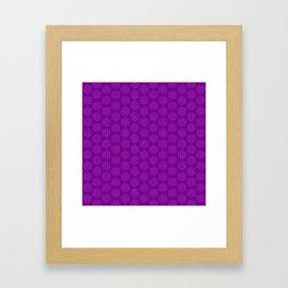 Ultraviolet Biscuits Pattern Framed Art Print