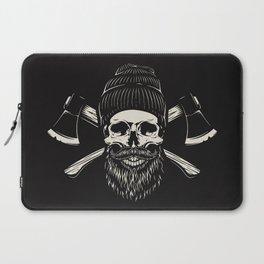 Bearded Lumberjack Skull Laptop Sleeve