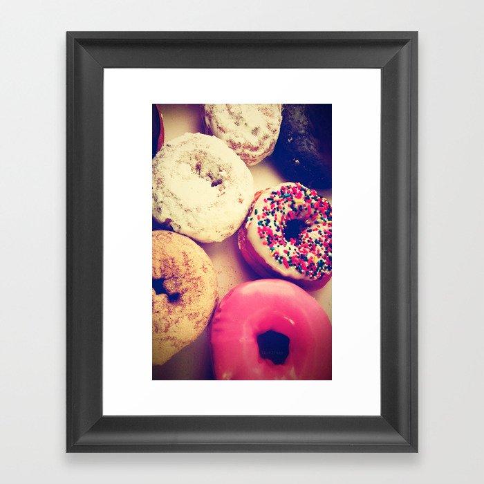 Yummy iPhone! Sweet donuts! Framed Art Print