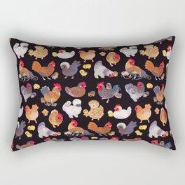 Chicken and Chick - dark Rectangular Pillow