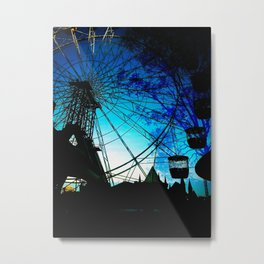 Ferris Wheel Nature Metal Print