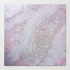 Elegant Pink Polished Marble Canvas Print