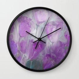Shades of Lilac Wall Clock
