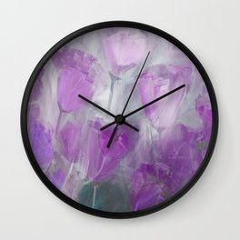 Shades of Lilac Wall Clock
