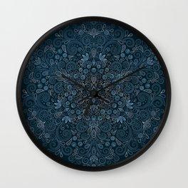 Blueberry Field Watercolor Pattern Wall Clock