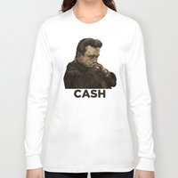 johnny cash Long Sleeve T-shirts featuring Johnny Cash by Philipp Banken