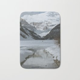Lake Louise Mountain Reflection Bath Mat