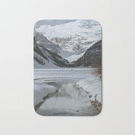 Lake Louise Mountain Reflection Bath Mat