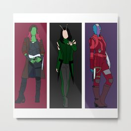 Awesome Women of Guardians of the Galaxy Metal Print