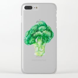 watercolor broccli illustration Clear iPhone Case