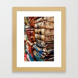 Stacks and stacks of books, Venice Italy Framed Art Print