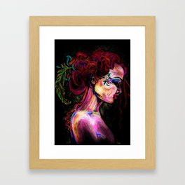 Waiting Backstage Framed Art Print
