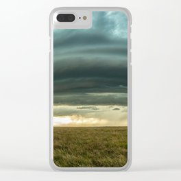 Filling the Void - Layered Storm in Western Nebraska Clear iPhone Case