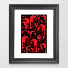 Elephant Herd Framed Art Print