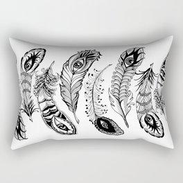 bizarre feathers Rectangular Pillow