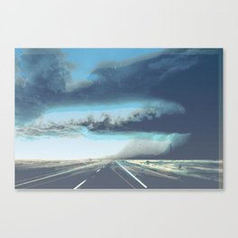Summer Squall on the Highway, Central New Mexico, 2013 Canvas Print