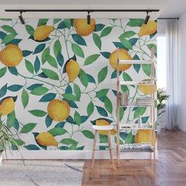 Lemon pattern II Wall Mural