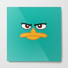 Perry the Platypus Metal Print