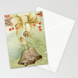 Christmas vintage bell Stationery Cards
