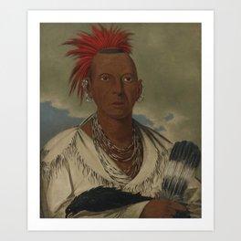 George Catlin 1796 - 1872 BLACK HAWK, PROMINENT SAUK CHIEF, SAUK AND FOX Art Print