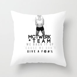MC Twerk Team Throw Pillow