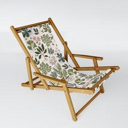 Herbarium ~ vintage inspired botanical art print ~ white Sling Chair