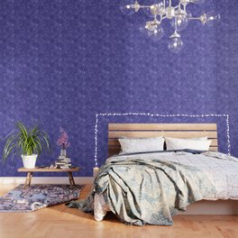 Monstera leaves - Ultra Violet and Lilac Wallpaper