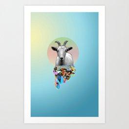 Titanium Goat Art Print