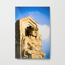 Statue On Hope Memorial Bridge I Metal Print