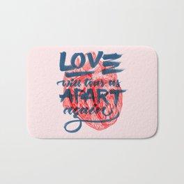 Love will tear us apart. Bath Mat