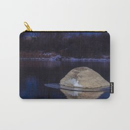 Rock Reflection On River Ice Carry-All Pouch