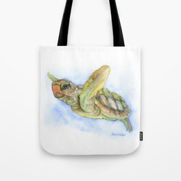 Sea Turtle Watercolor Tote Bag