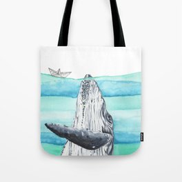In the middle of the ocean Tote Bag