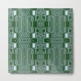 Computer Geek Circuit Board Pattern Metal Print