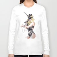 britney spears Long Sleeve T-shirts featuring Britney Spears S&M by Eduardo Sanches Morelli