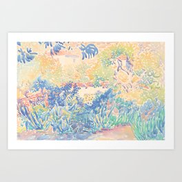 The Artist's Garden at Saint-Clair by Henri-Edmond Cross 1904-5, French Art Print