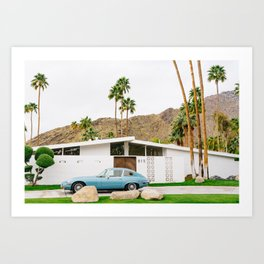 Palm Springs Ride Art Print