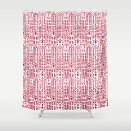 AMSTERDAM RED Shower Curtain