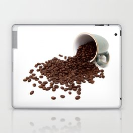 Rich brown coffee beans spilled from a mug Laptop & iPad Skin