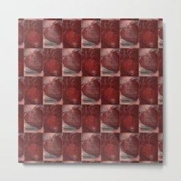 Cardio Fragaria Pattern Metal Print