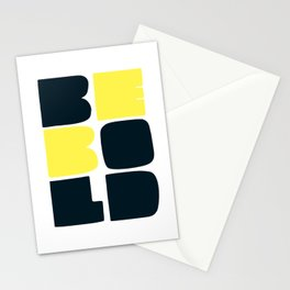 Be Bold in Black and Lemon Yellow Stationery Cards