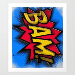 Bam Cartoon Comic Book Comics Comicon Cosplay Pop Art Gift Idea Apparel and Accessories Gifts Art Print