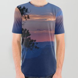Colorful Sunset - North_Rim, Grand_Canyon, AZ All Over Graphic Tee