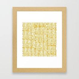 Golden Wavey Framed Art Print