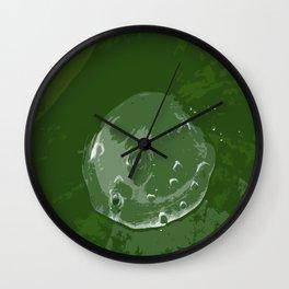 Waterdrop on Green Wall Clock
