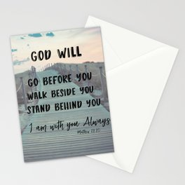 I Am with you Always Bible Verse with Quote Stationery Cards